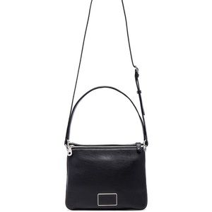 NWT MARC by MJ Ligero Leather Shoulder Bag, Black